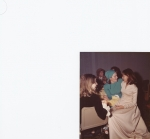 Anahid Kavookjian Vrana with Joan Dobson and Josie Mullen, Anahid's wedding 1975!