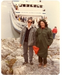 Another photo of Sue and Mardie in Glacier Bay Alaska, 1984