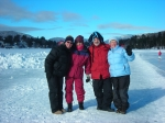Cindi Shaw Kromberg, Bobbi Shaw McKinney, Steve & Patti Craig on Lake Placid