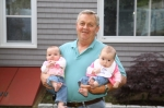 Bill Harper and his two bundles of joy