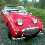 Almost killed me but sure fun to drive- Austin Healey Bugeye Sprite   John vanden Heuvel