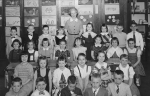 Holmes School Mrs. Parson's 1st grade class.  1st row: ?, ? Mark Blackman, Rob Marshall, Rusty Wadhams. 2nd row: Margar